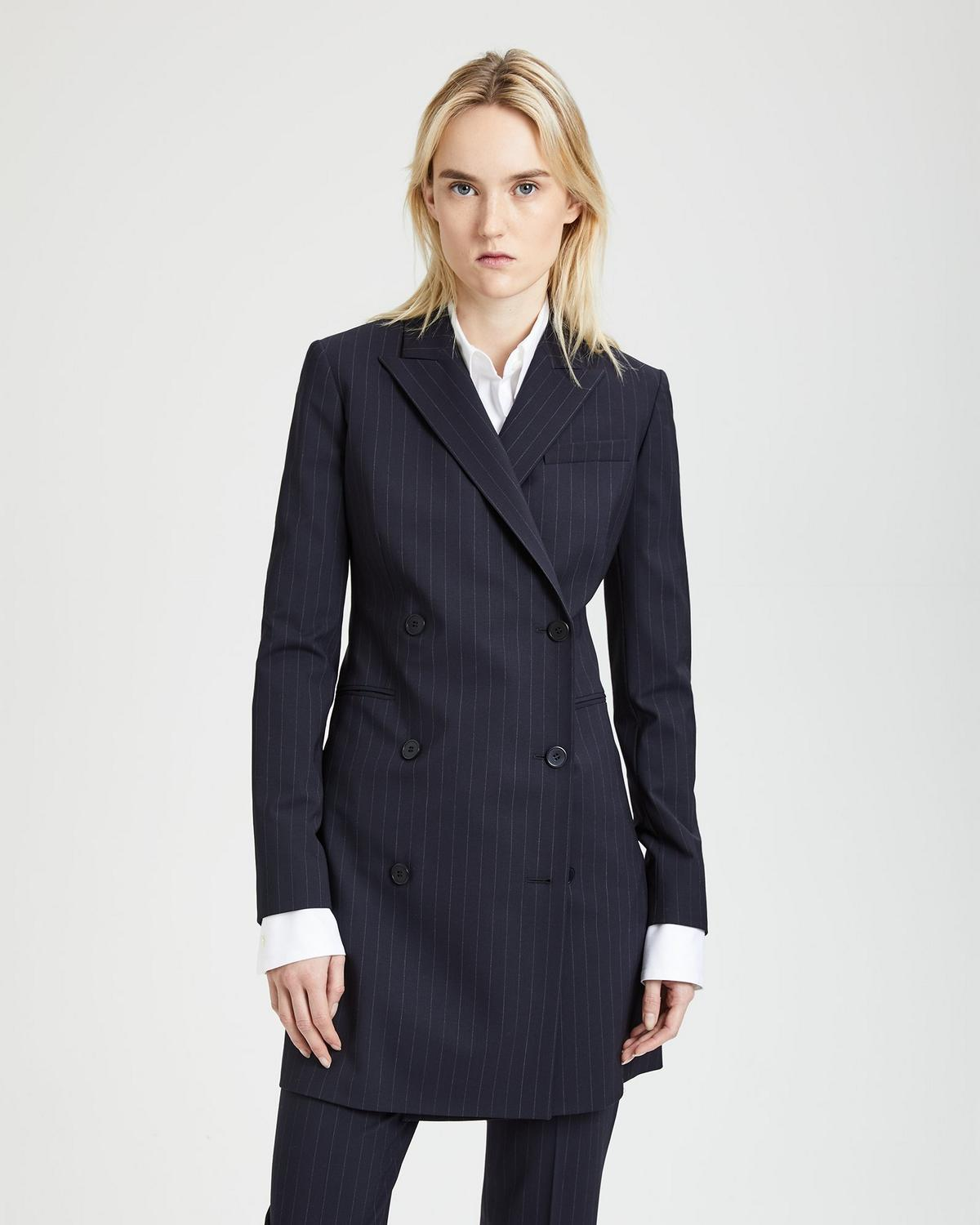 Good Wool Pinstripe Blazer Dress