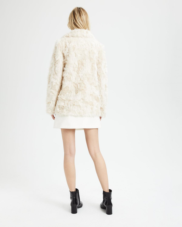 9fac9eb0c668 Theory Luxe Faux Fur Portrait Neck Jacket Neiman Marcus