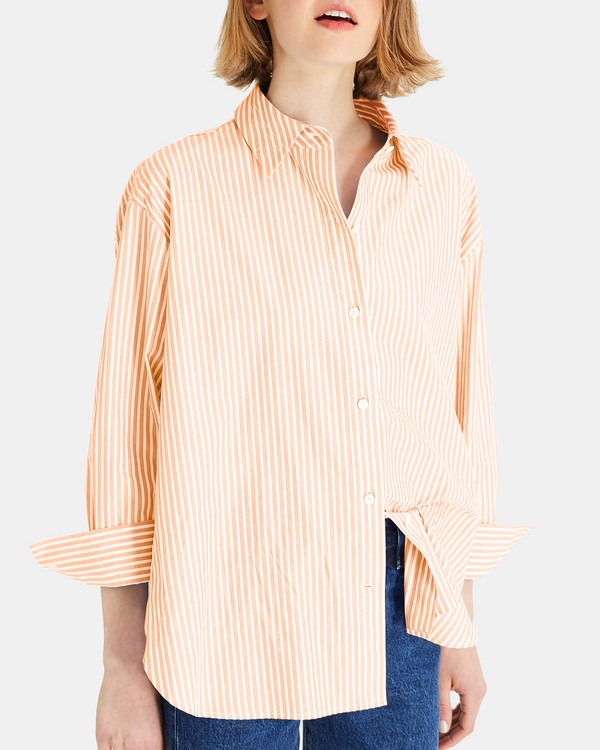 Striped Relaxed Button-Down