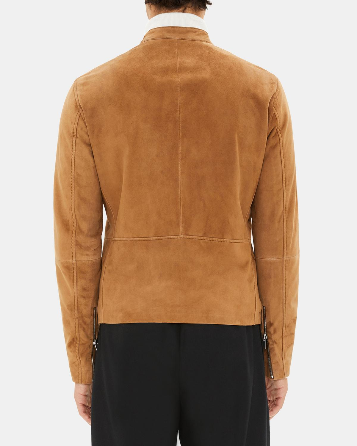 60c45d527f Suede Banded-Collar Jacket 1 - click to view larger image ...