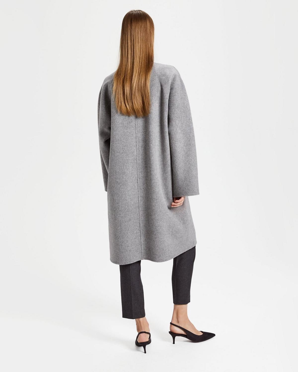388864cbf0fc Wool-Cashmere Rounded Coat | Theory