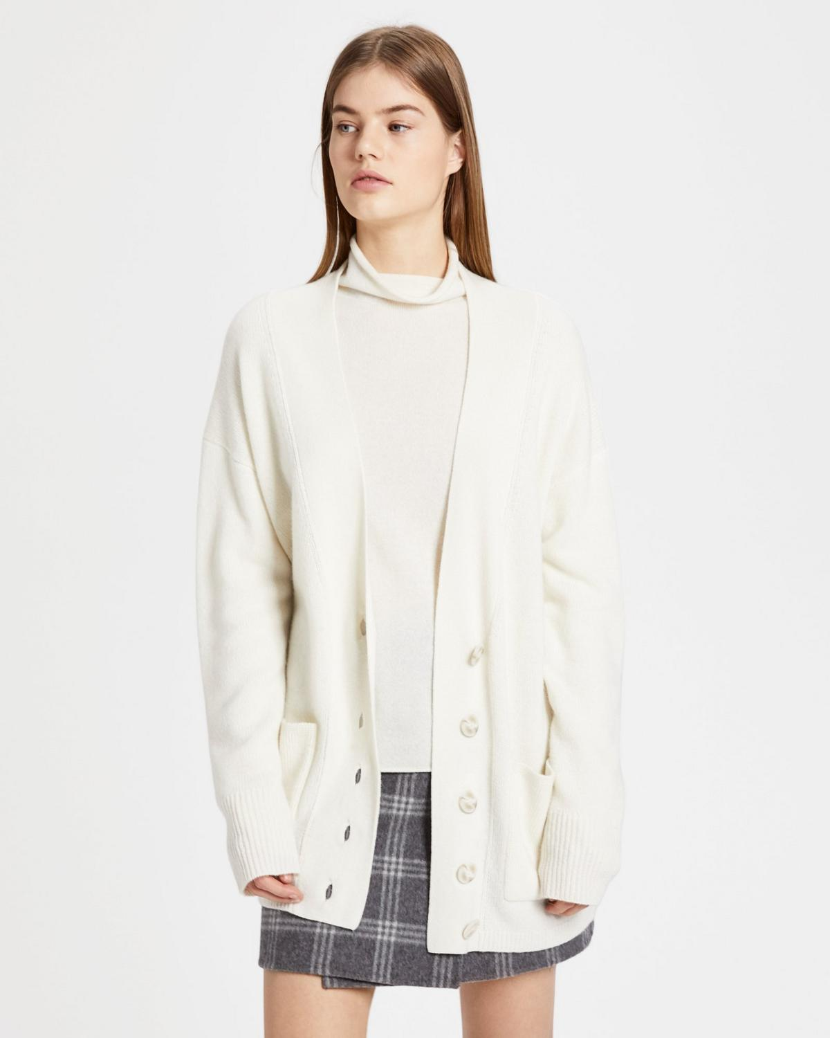 Oversized Placket Cardigan