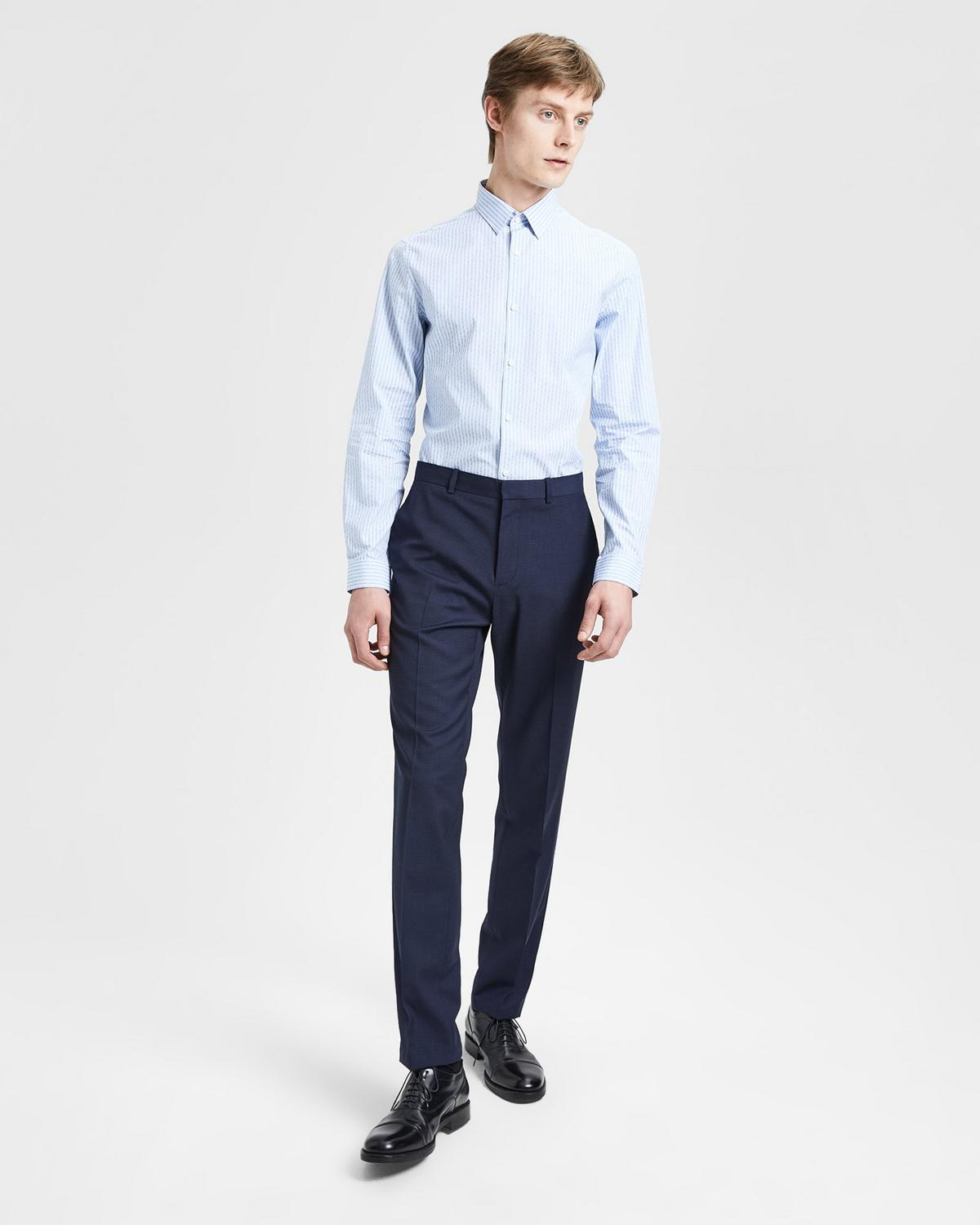 Slim-Fit Shirt With Point Collar