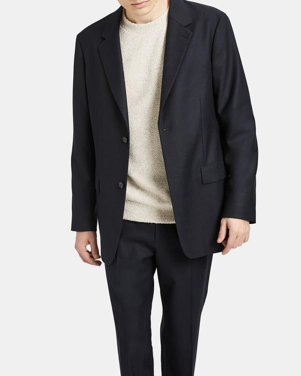 띠어리 맨 자켓 Theory Casual Flannel Kareem Jacket,BLACK