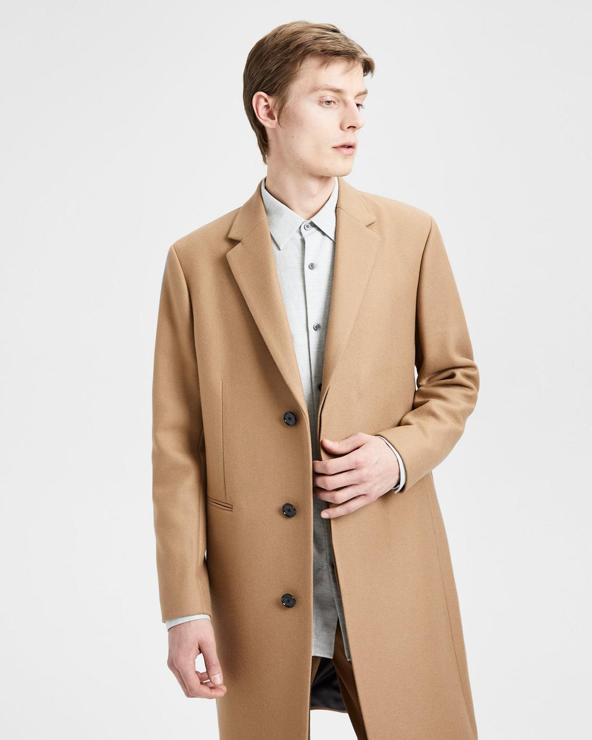 Traceable Melton Coat