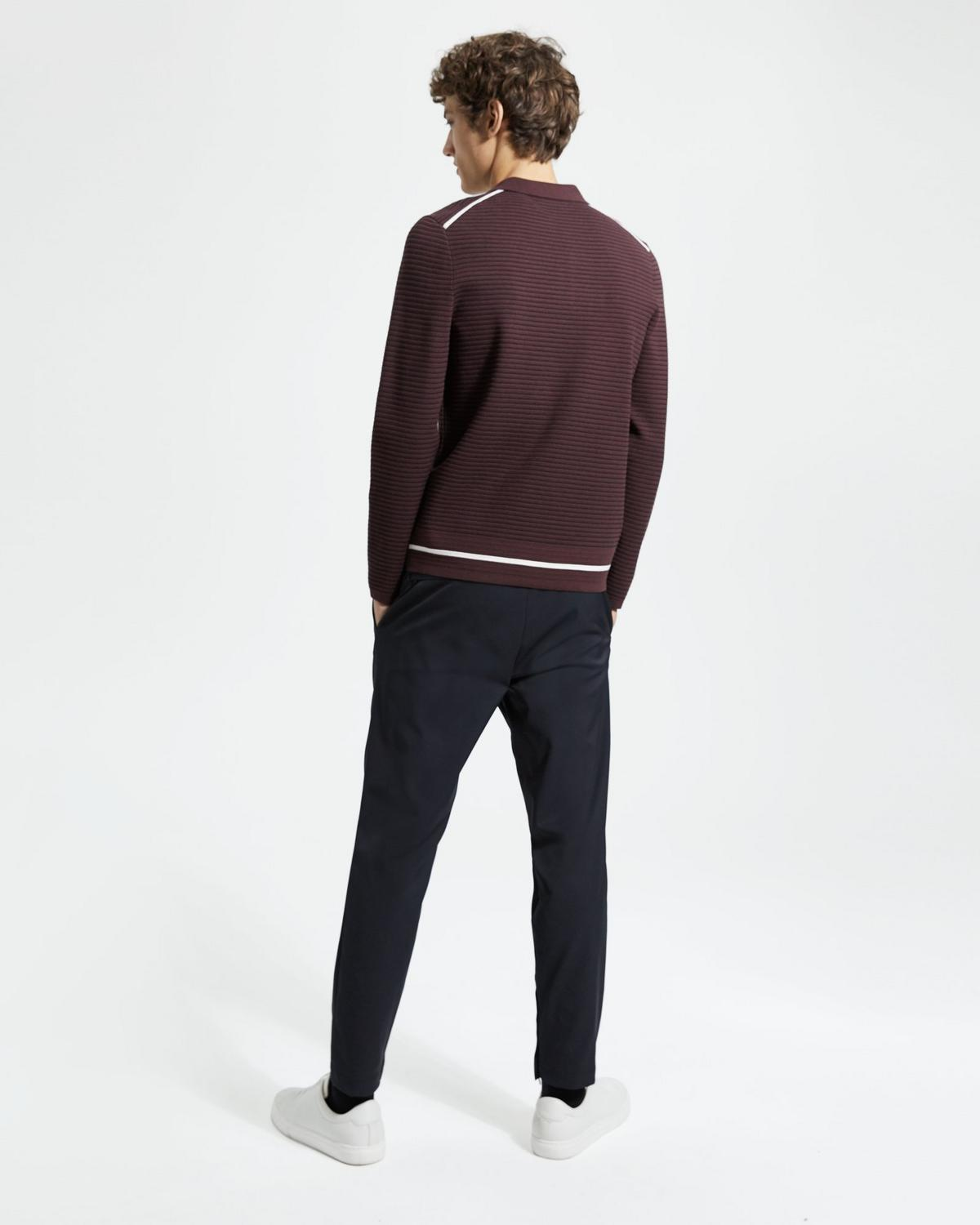 Mr Porter x Theory Striped Long-Sleeve Polo