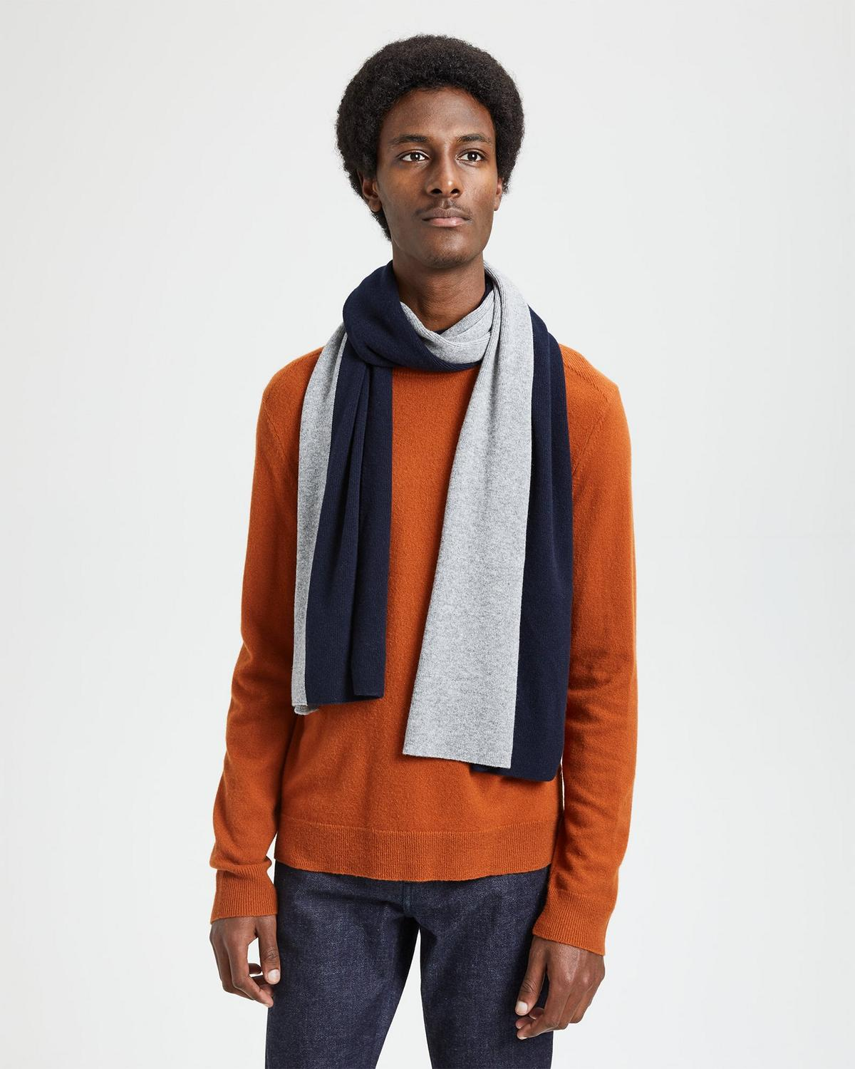 Color-Blocked Cashmere Scarf