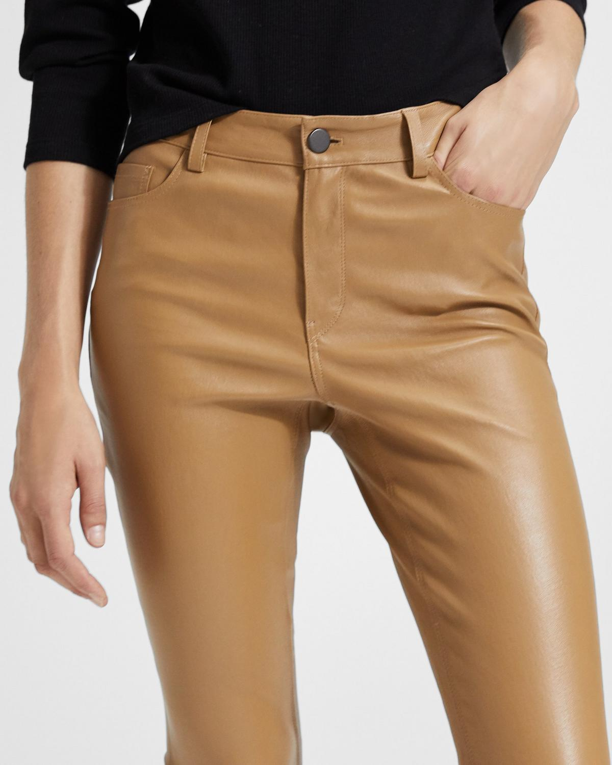 Five-Pocket Leather Trouser