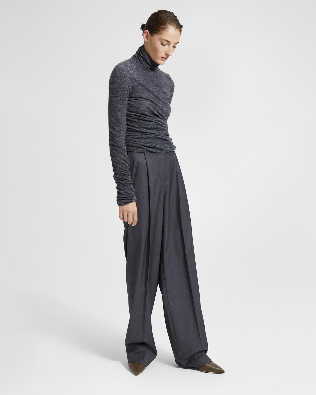 7e875d5e2 Sleek Wool Pleated Trouser