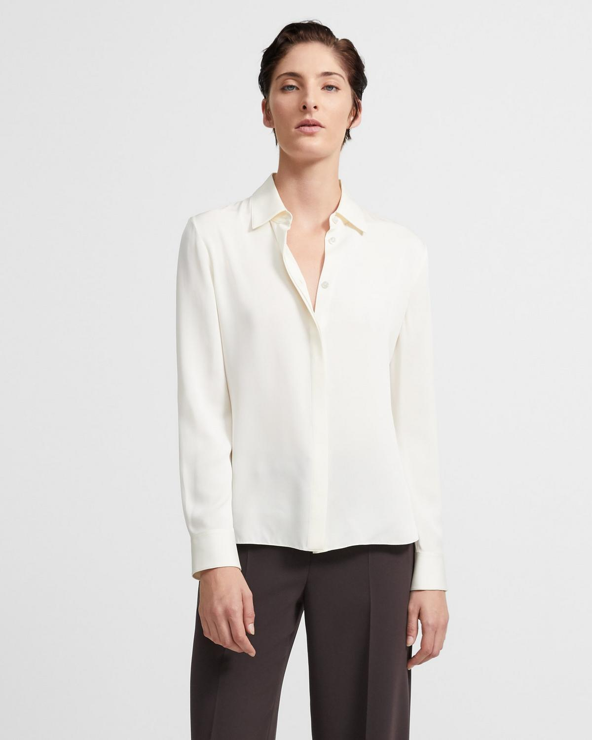 Stretch Silk Fitted Shirt