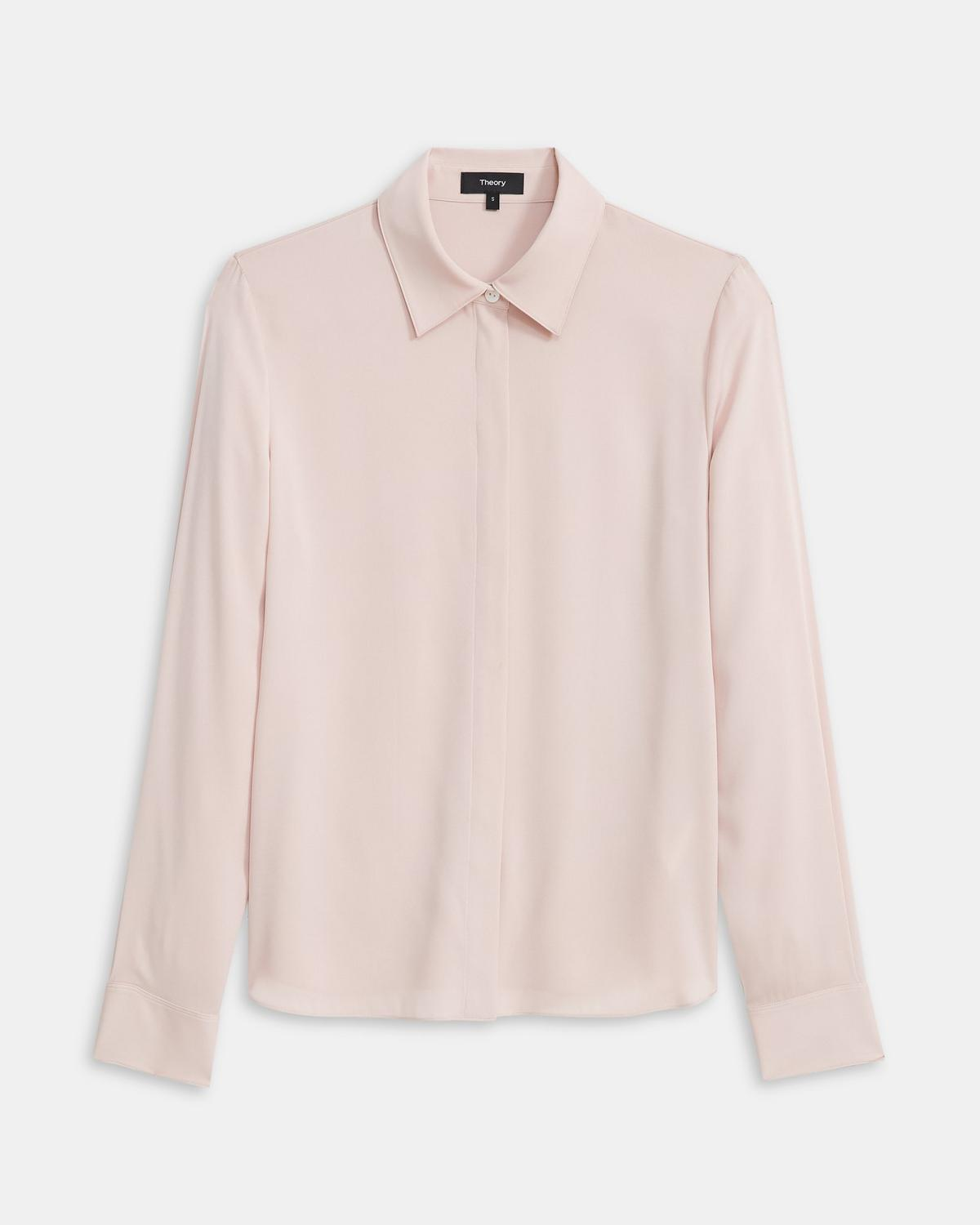 Fitted Shirt in Stretch Silk