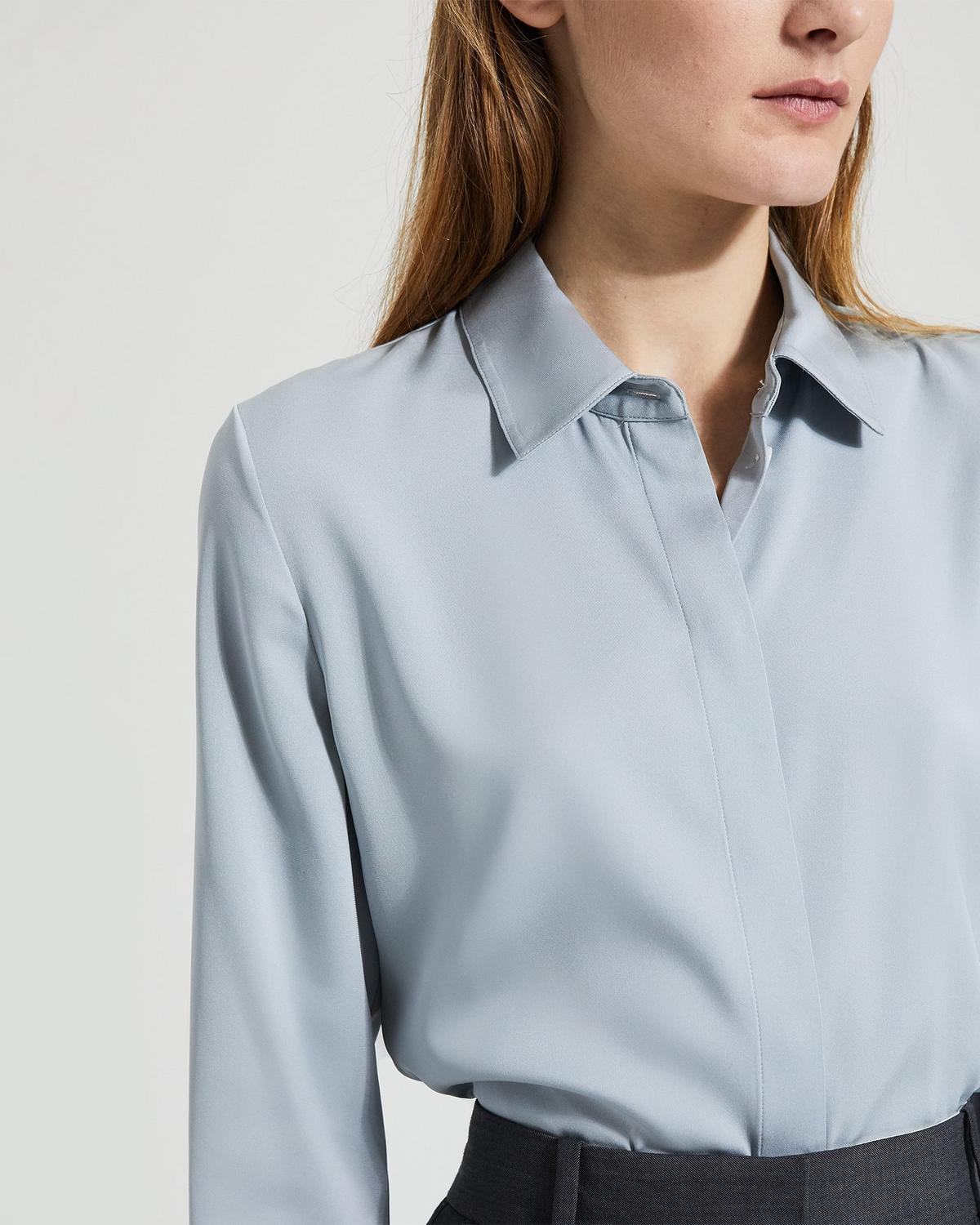 Stretch Silk Classic Fitted Shirt
