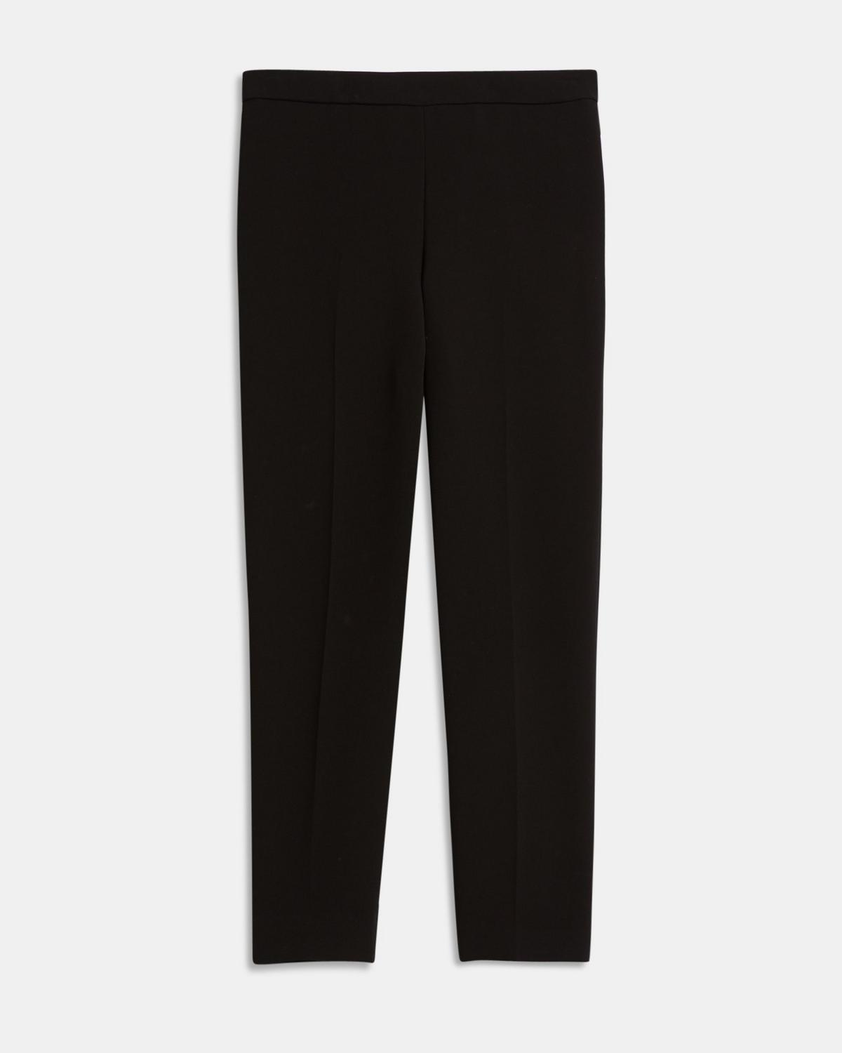 Crepe Basic Pull-On Trouser