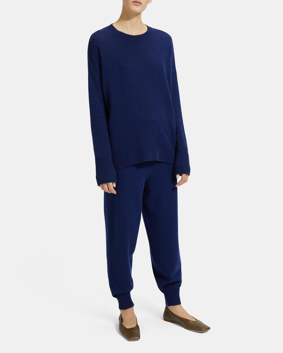 Wool-Cashmere Relaxed Track Pant