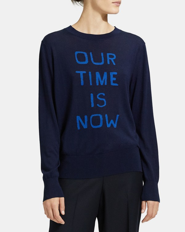 Our Time Is Now Sweater in Silk-Cashmere