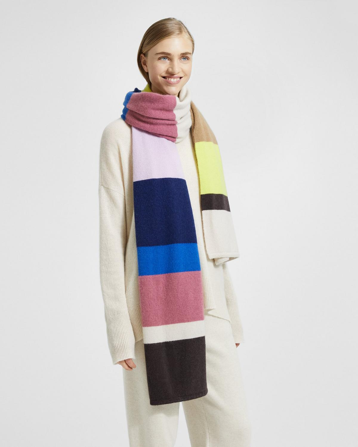 Cashmere Striped Blanket Scarf