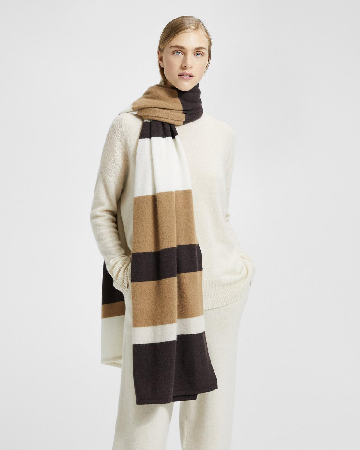 Cashmere Striped Blanket Scarf 0 - click to view larger image 5575d1301