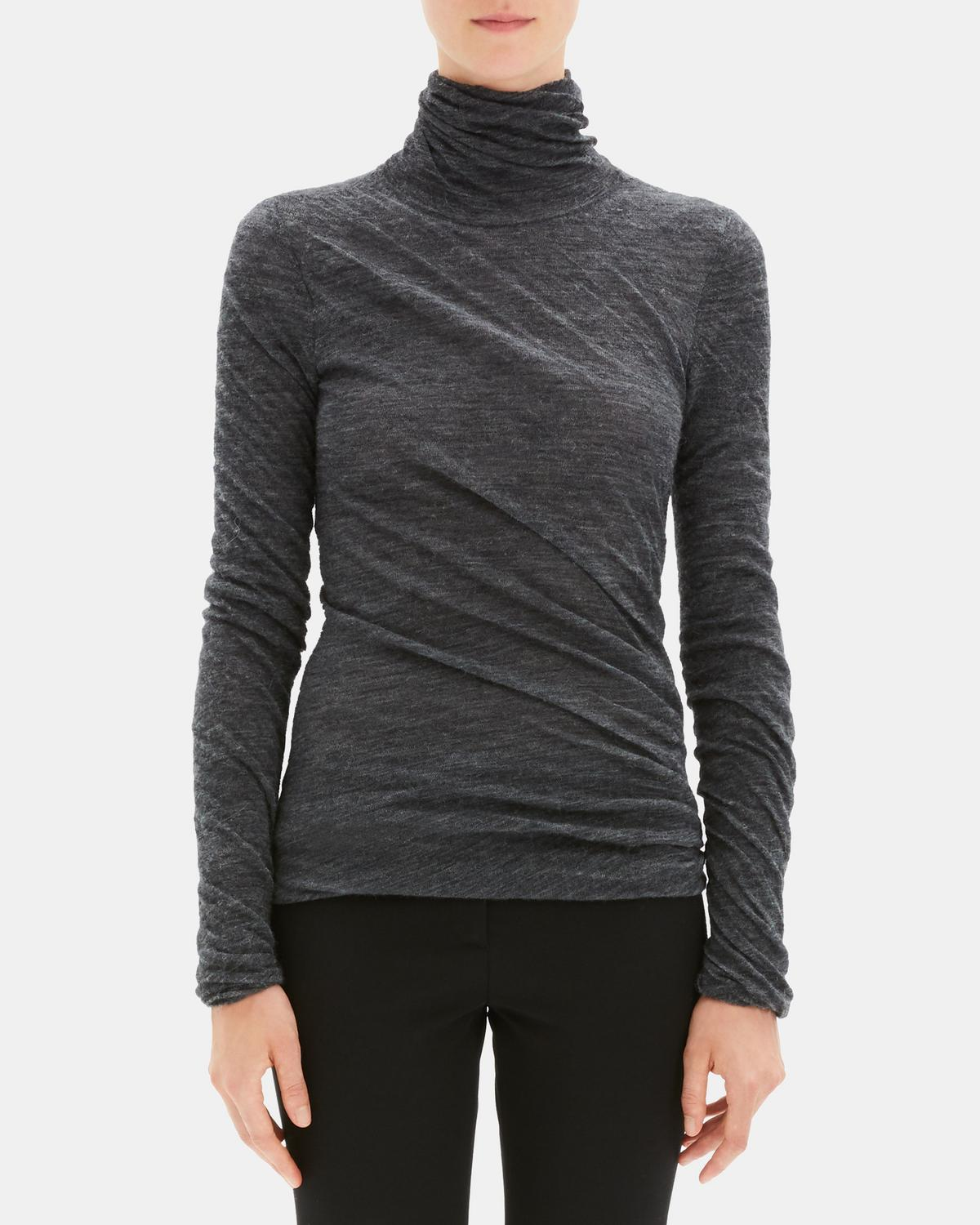 e1e0fe23dda Alpaca Blend Twisted Turtleneck