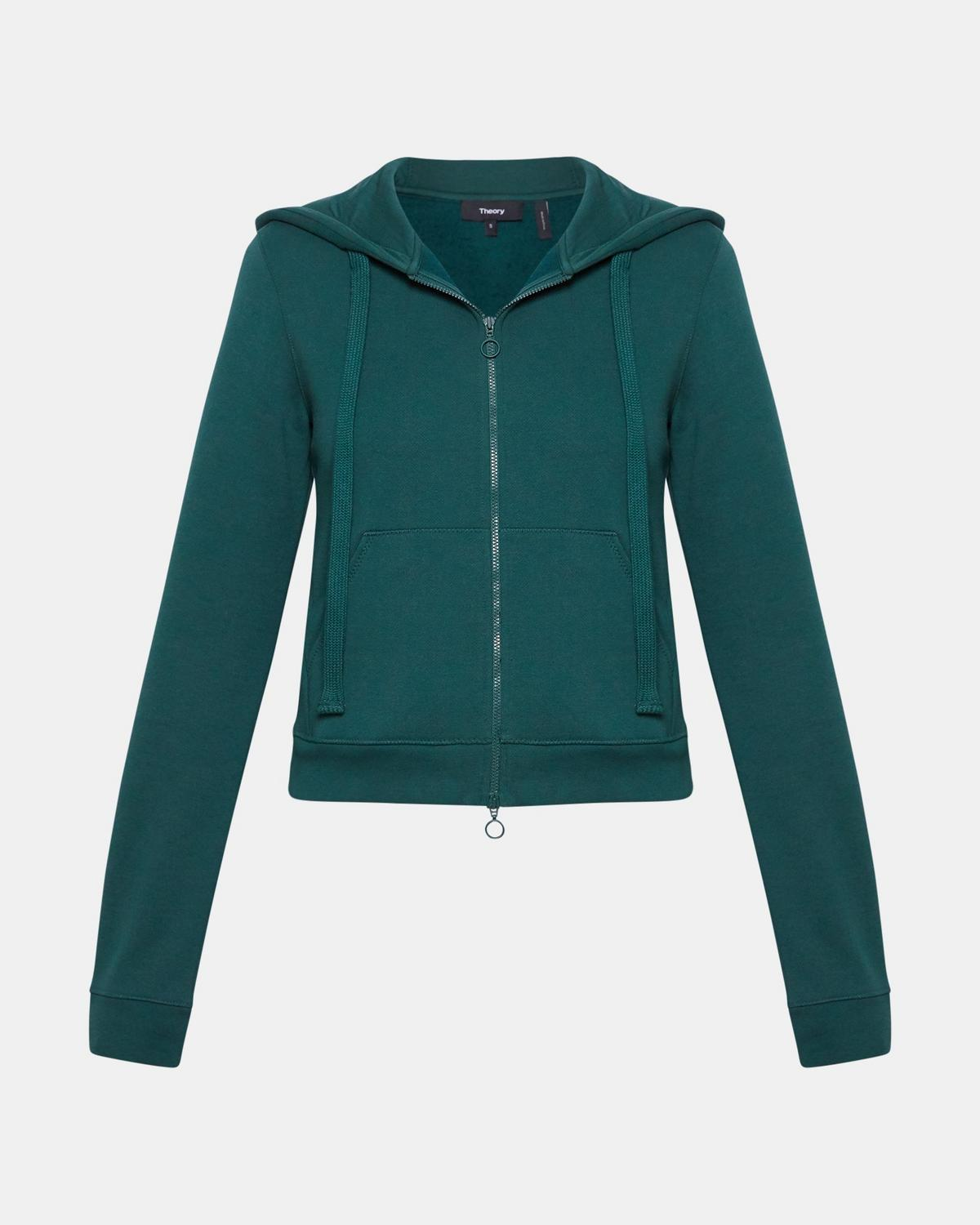 Melrose Fleece Shrunken Zip-Up Hoodie