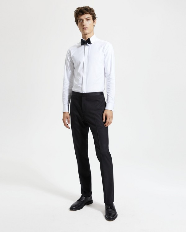 띠어리 맨 메이어 팬츠 Theory Mayer Tuxedo Pant in Stretch Wool,BLACK
