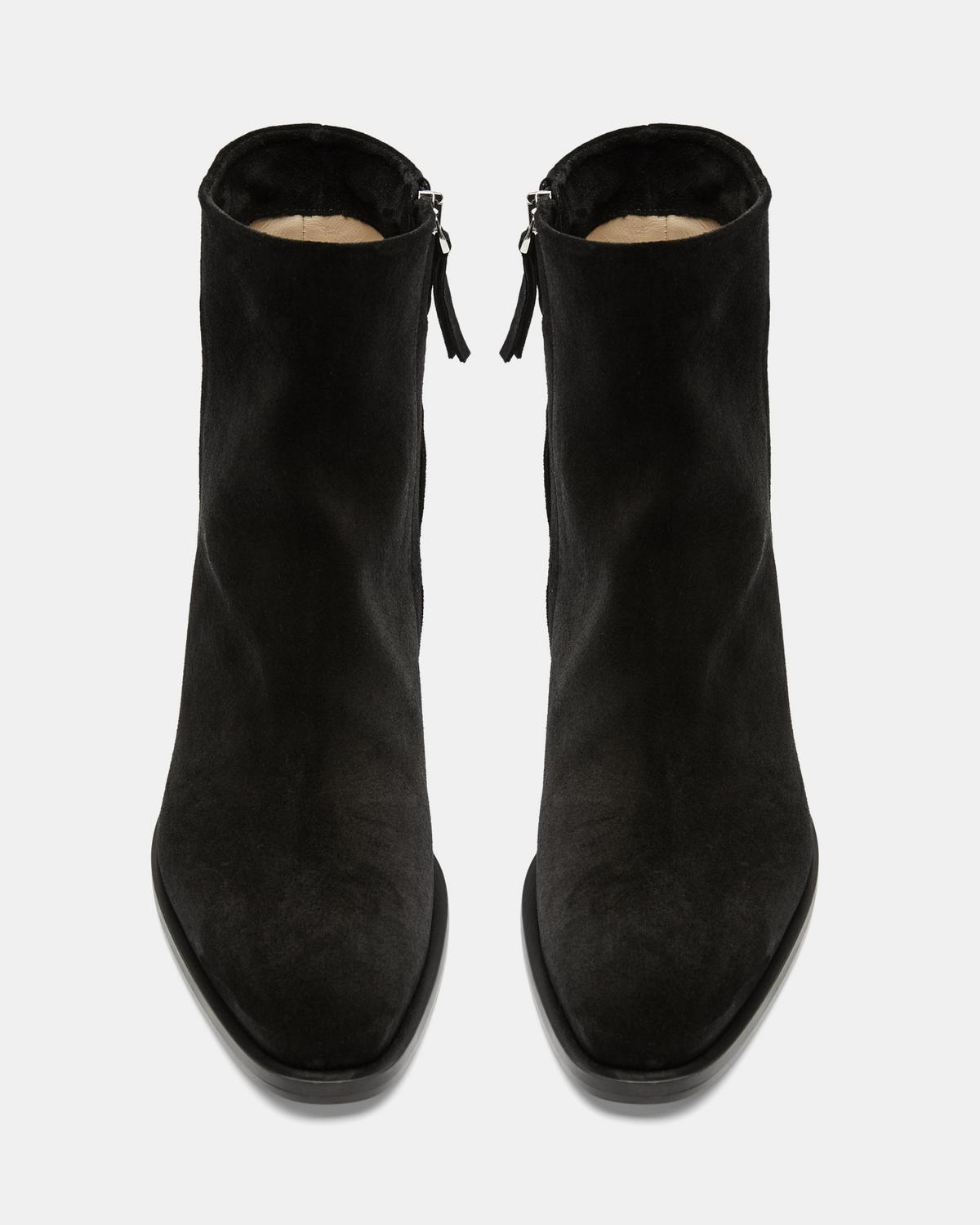 Zip-Up Bootie in Suede