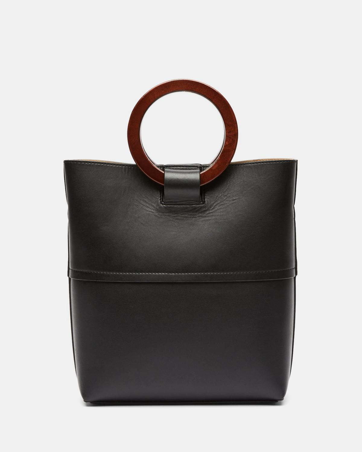 Leather Mini Hoop Tote