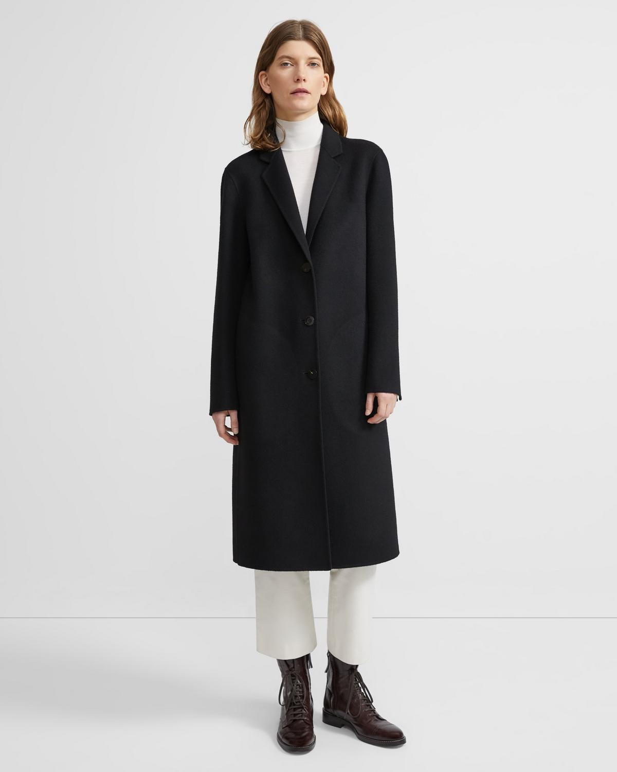 Classic Coat in Double-Face Wool-Cashmere
