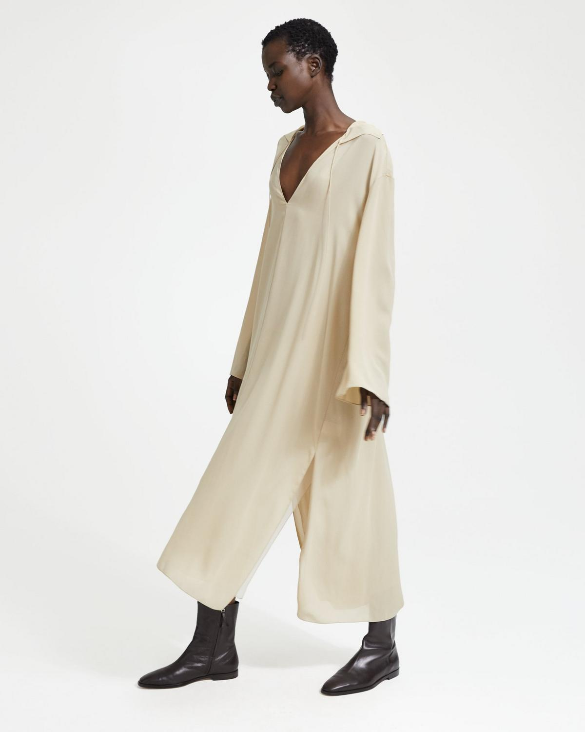 Silk Crepe Sailor Caftan