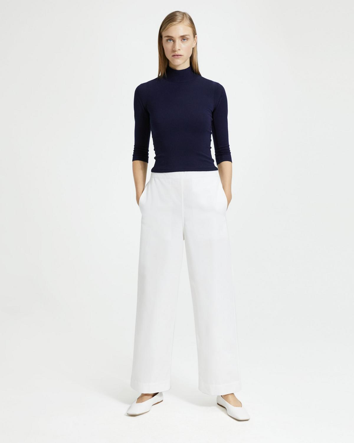 Wide-Leg Pull-On Pant