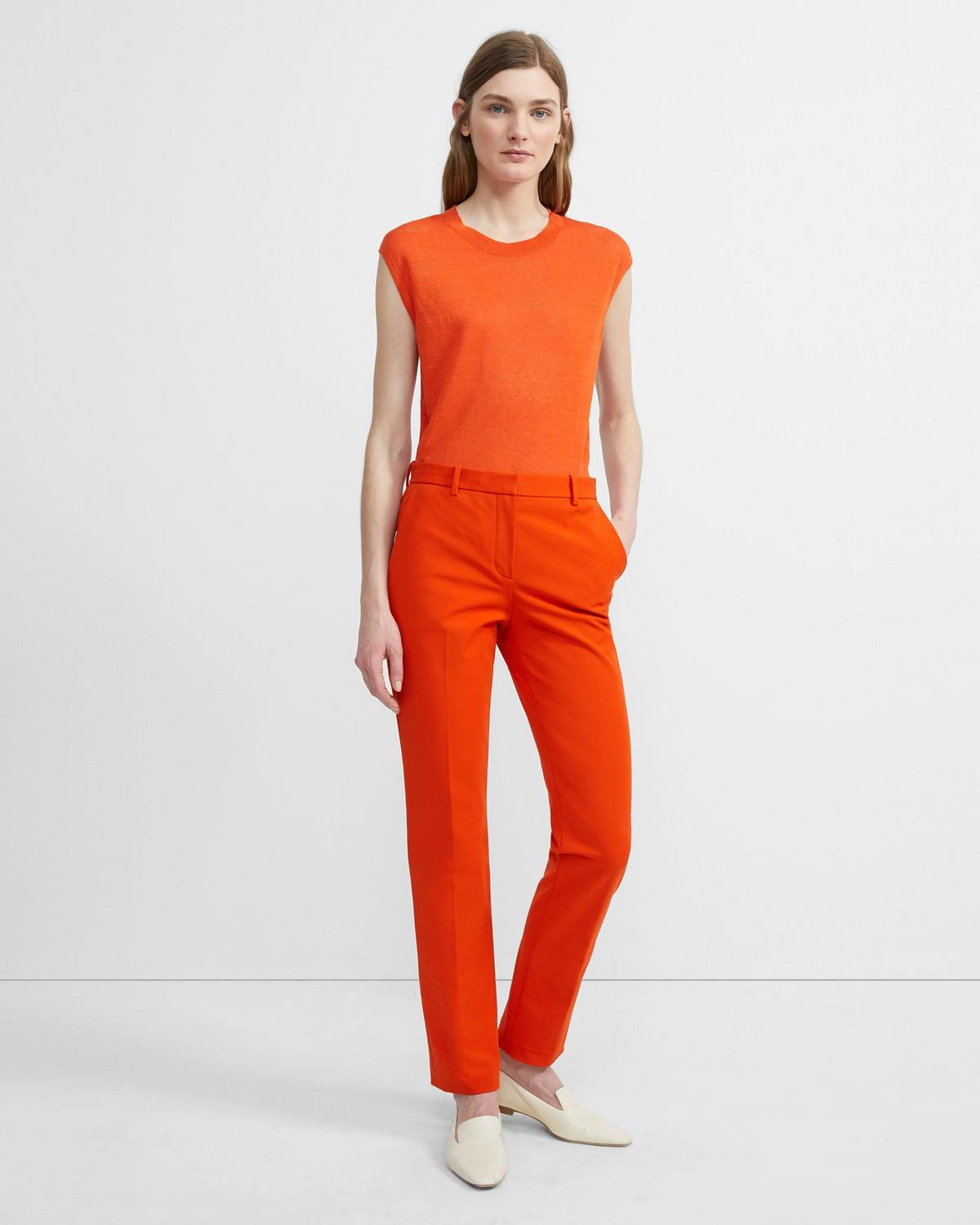 Double Stretch Cotton Tailored Trouser