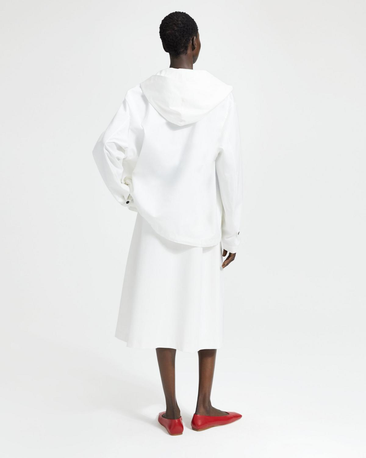 Cotton-Silk Hooded Pullover