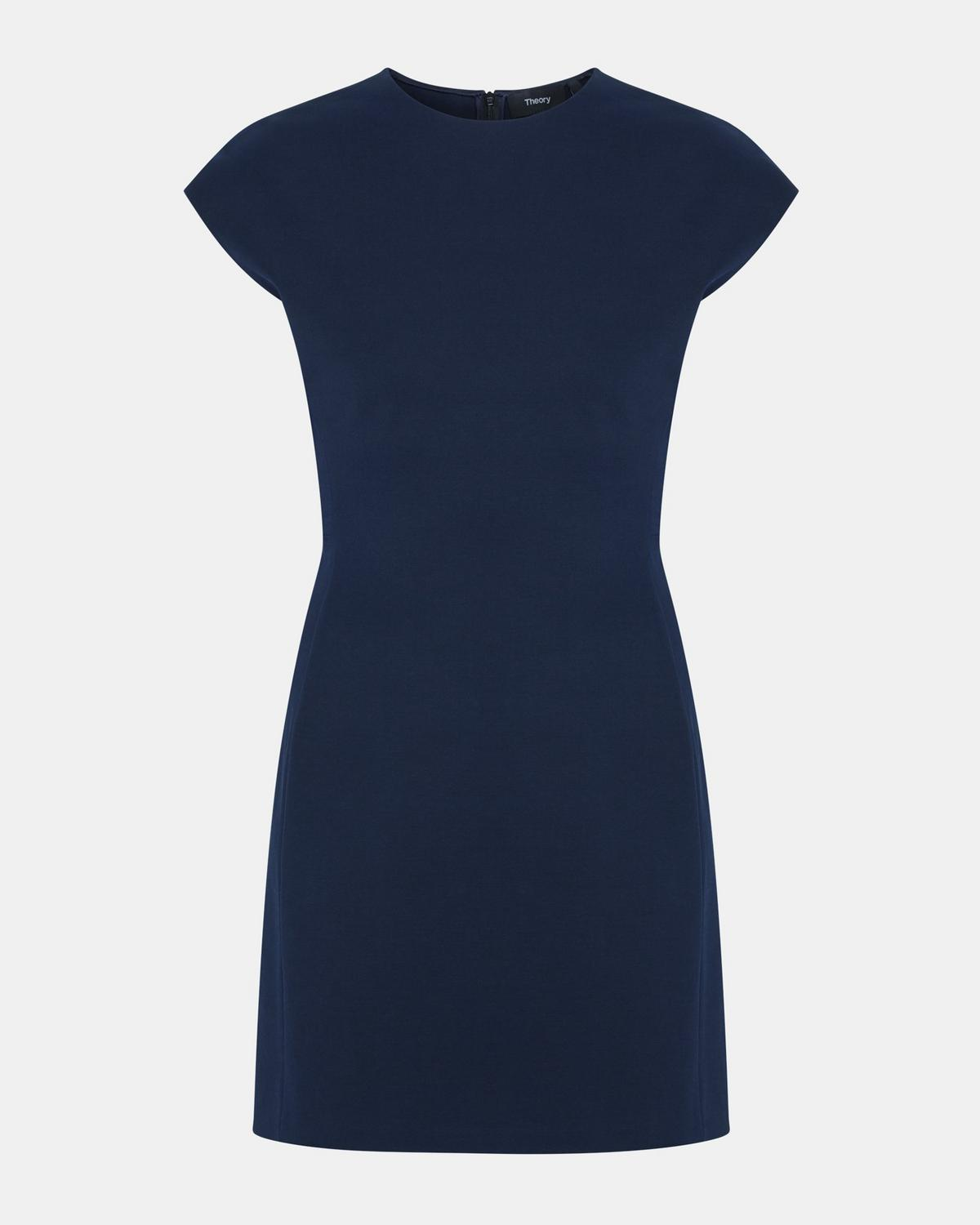 1f4f3c603f Double Stretch Cotton Structured Fitted Dress 1 - click to view larger  image ...
