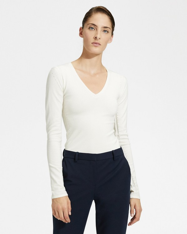 191da03cb132 Low V-Neck Pullover