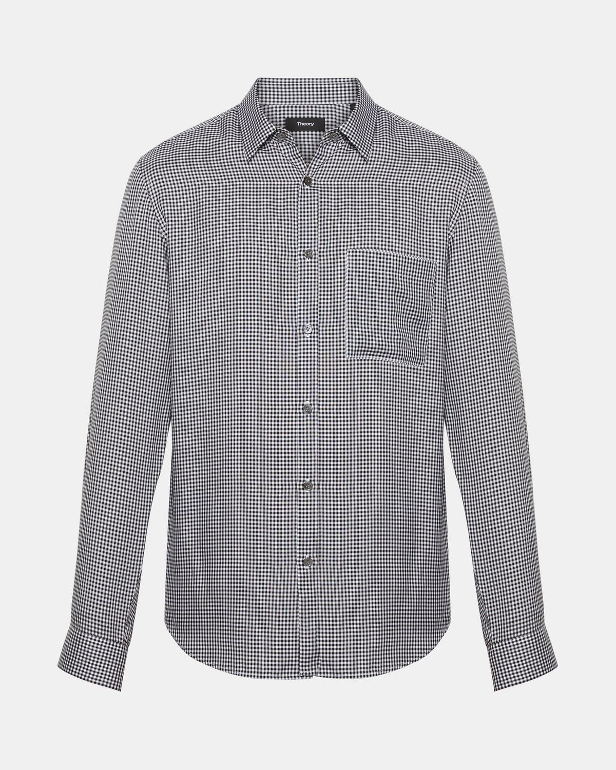 Brushed Gingham Standard-Fit Shirt