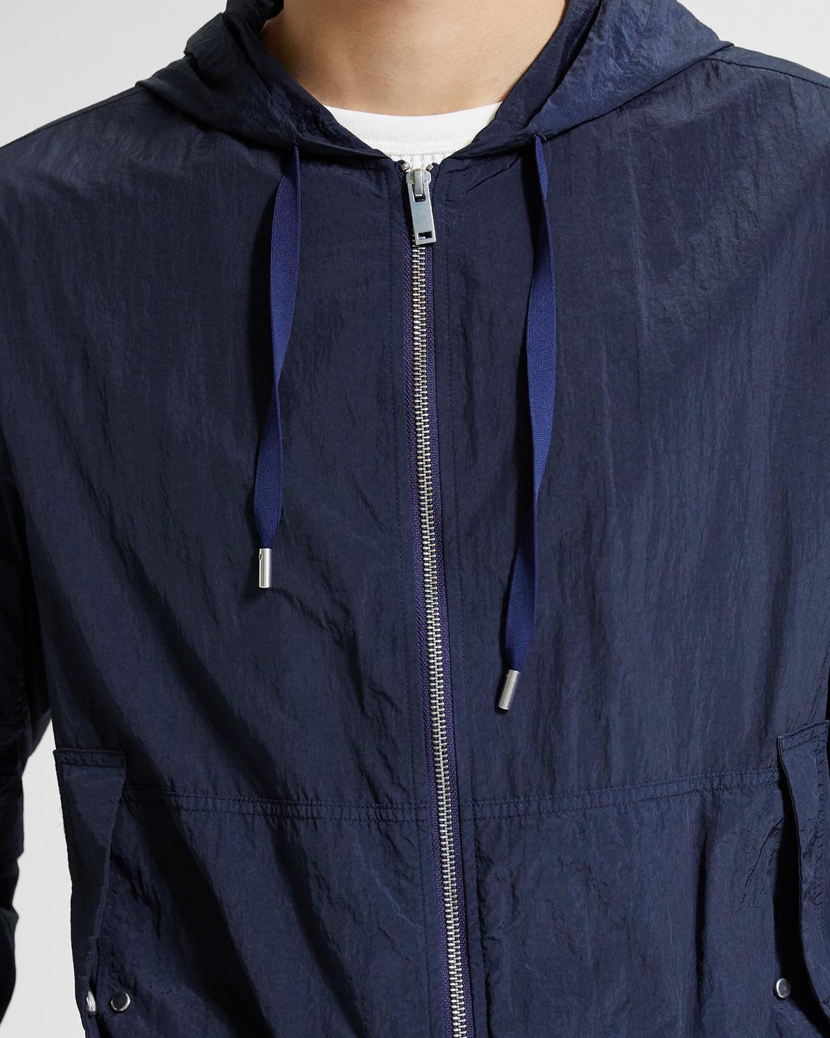 Garment-Dyed Nylon Track Jacket