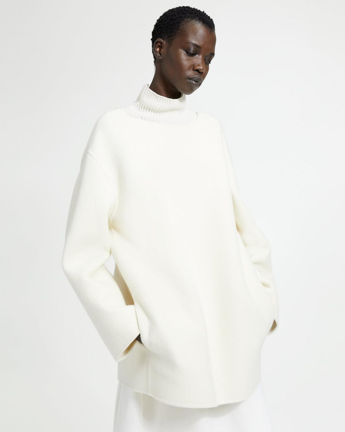 Wool-Cashmere Long-Sleeve Tunic