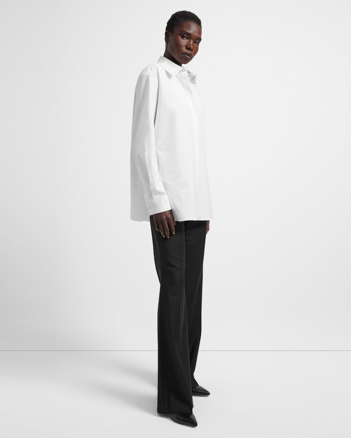 Stretch Cotton Menswear Shirt