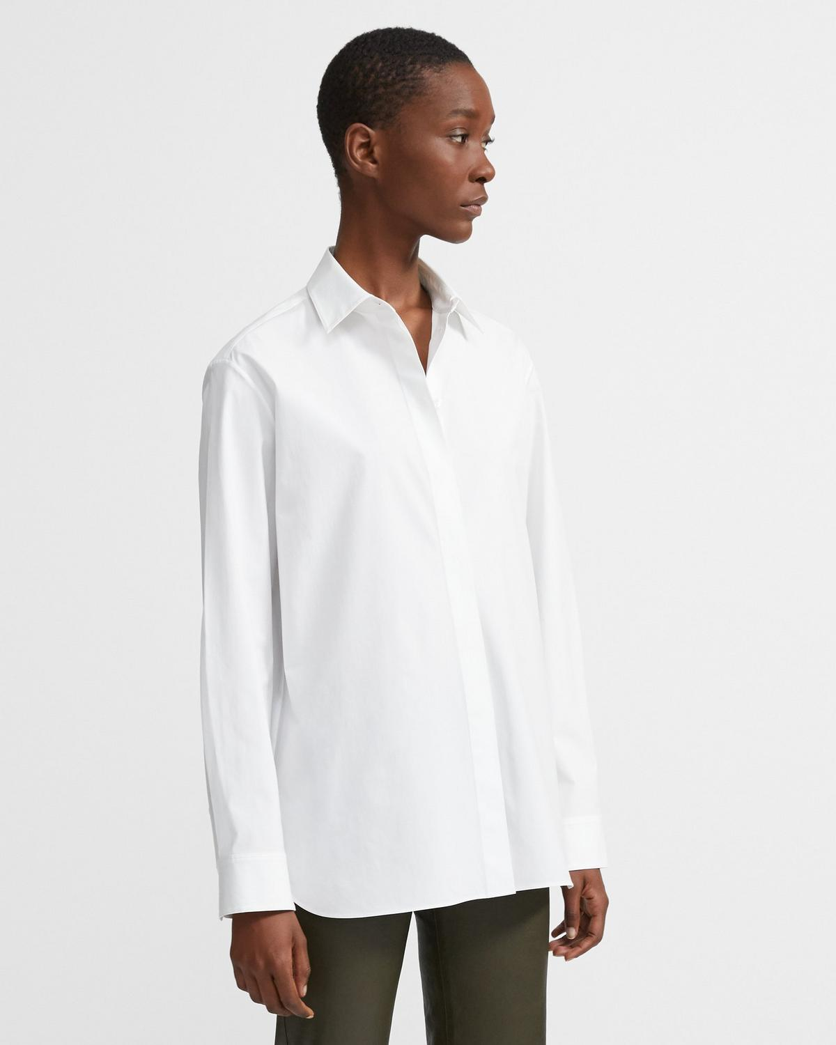 Menswear Shirt in Stretch Cotton