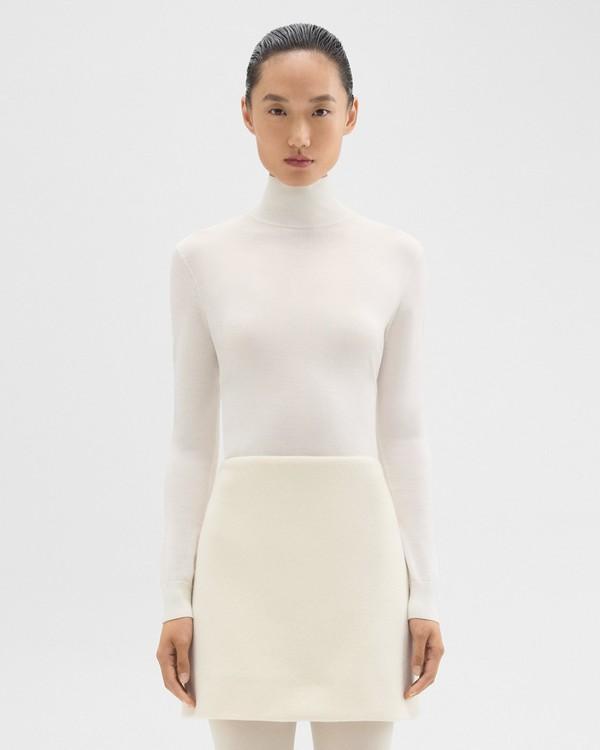 띠어리 Theory Turtleneck Sweater in Regal Wool,NEW IVORY