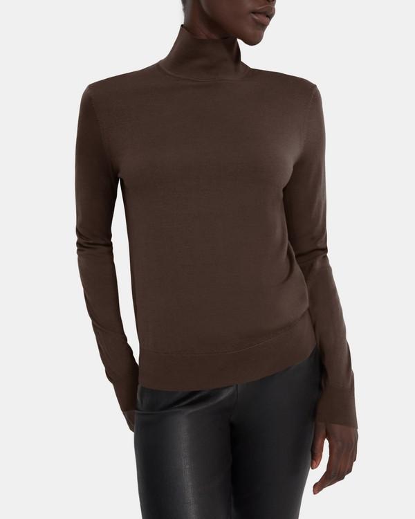 띠어리 Theory Turtleneck Sweater in Regal Wool,WALNUT