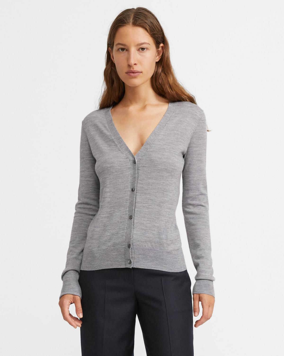Regal Wool V-Neck Cardigan