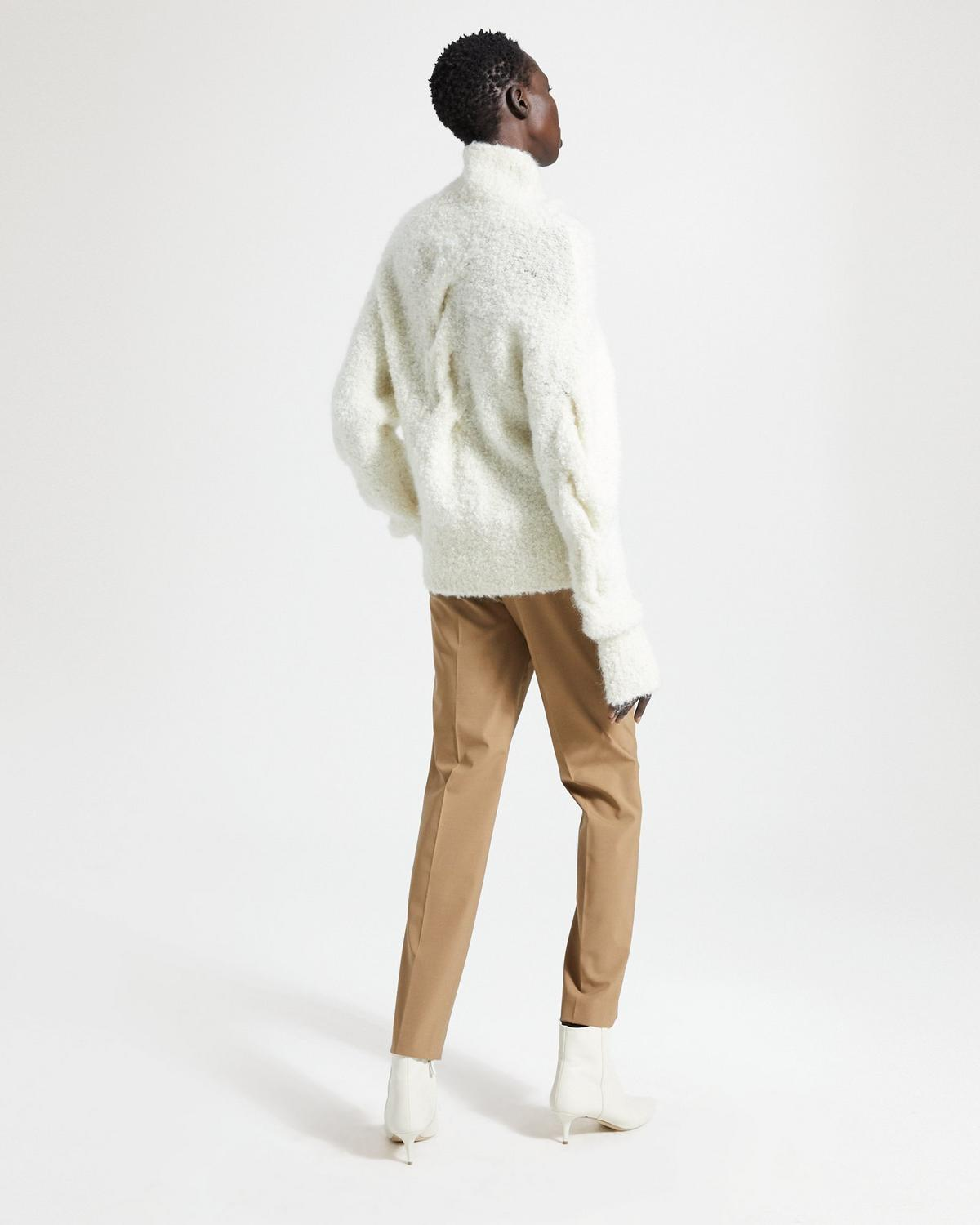 Mohair Boucle Cable Turtleneck