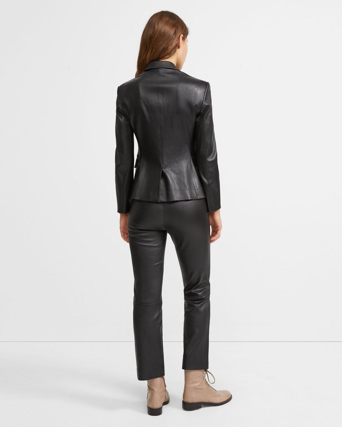 Leather Classic Shrunken Jacket
