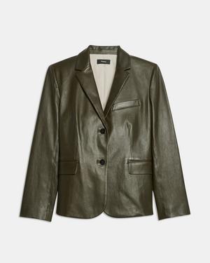 Shrunken Blazer in Leather