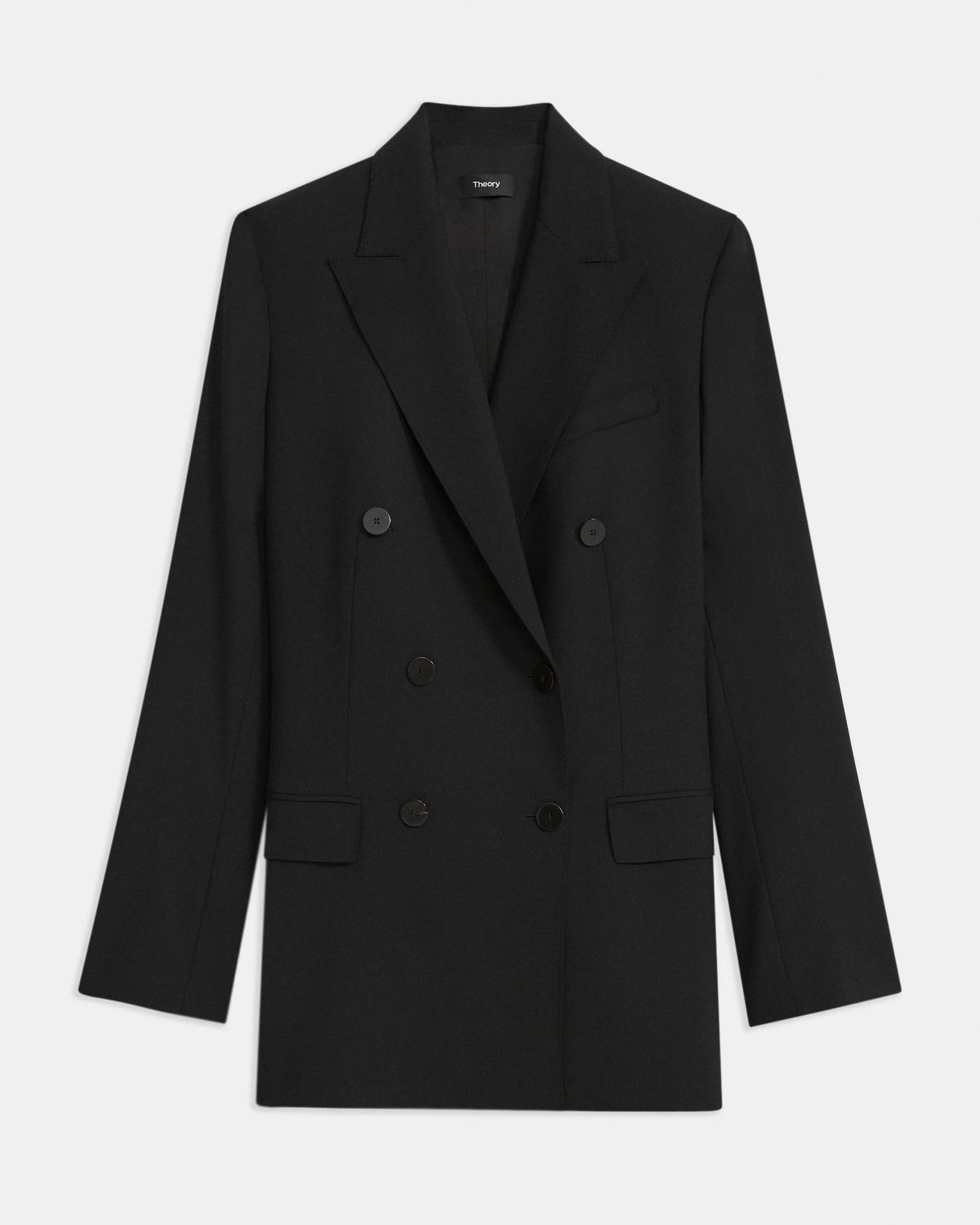 Good Wool Double-Breasted Blazer