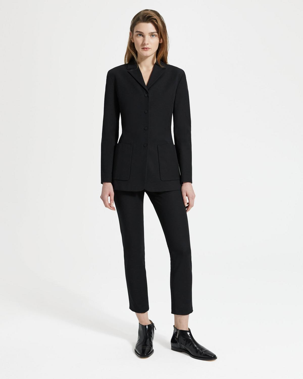 Double Stretch Cotton Slim Blazer