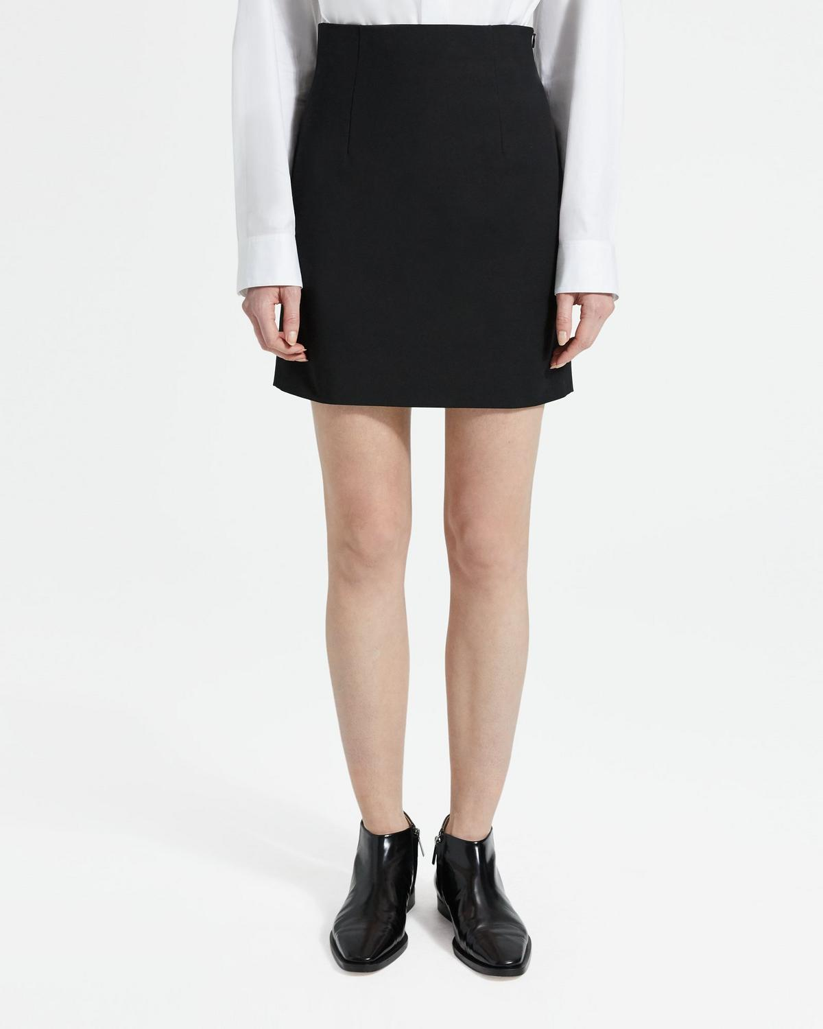 Double Stretch Cotton Mini Skirt
