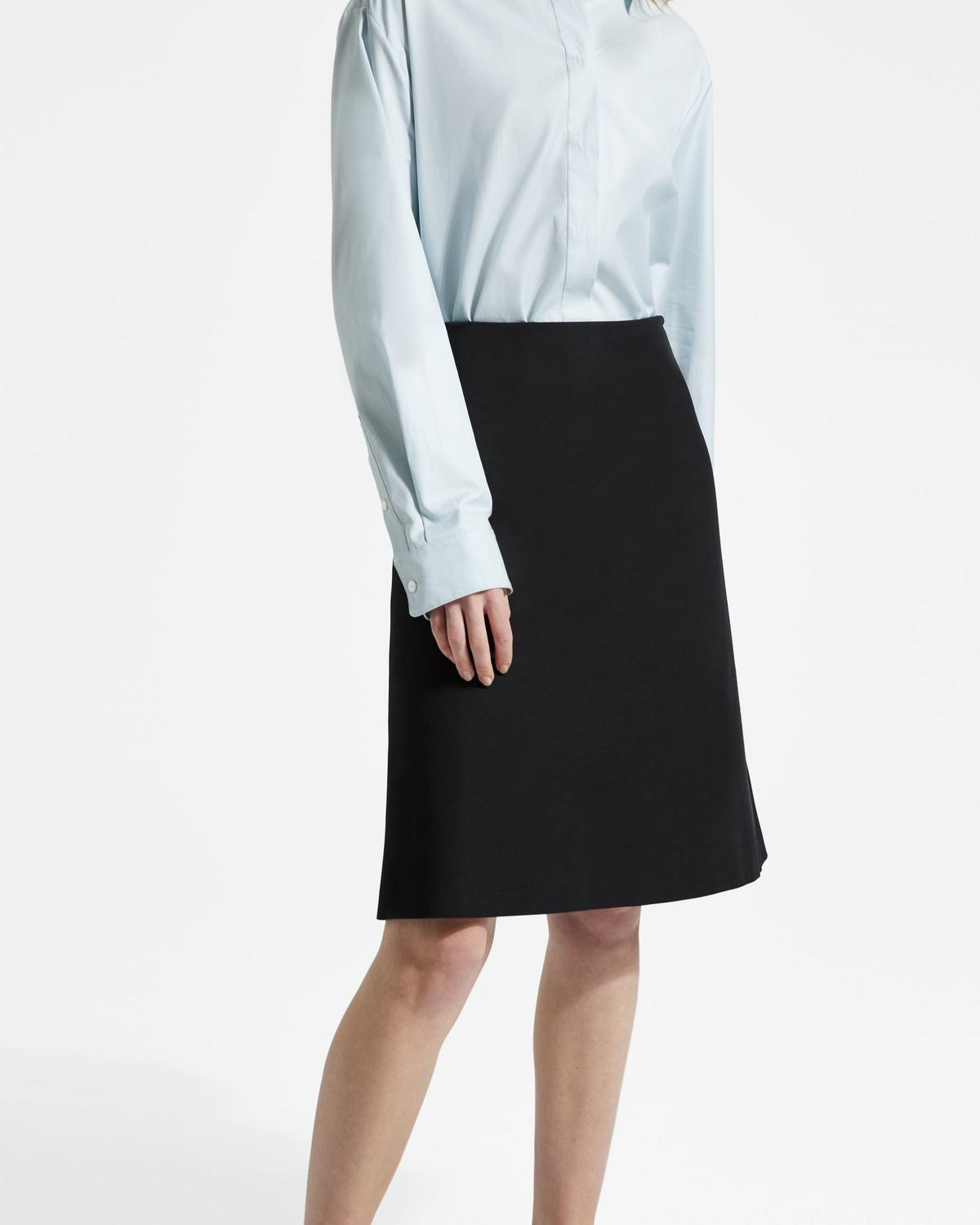 Double Stretch Cotton Easy Midi Skirt