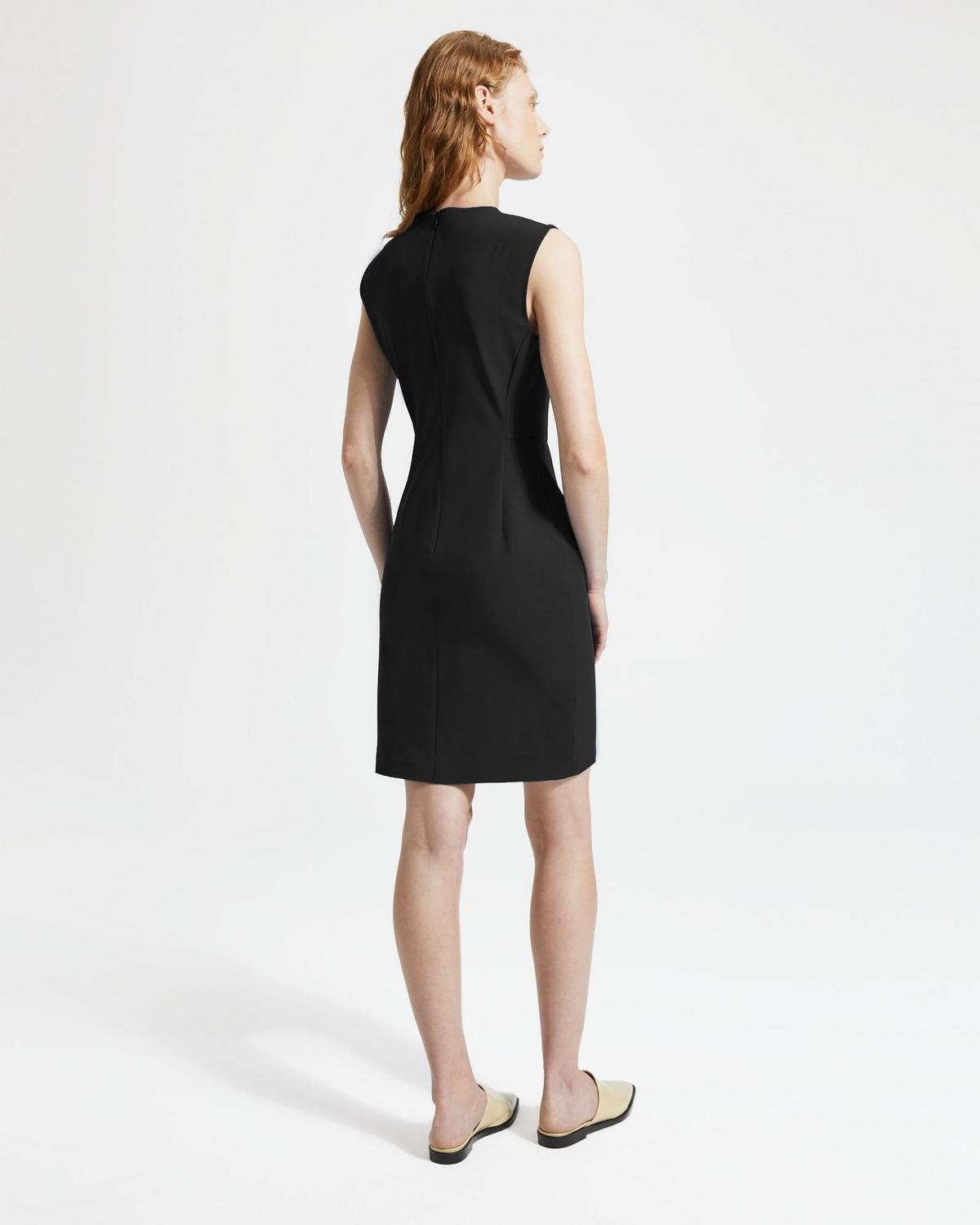 Double Stretch Cotton Fitted Dress