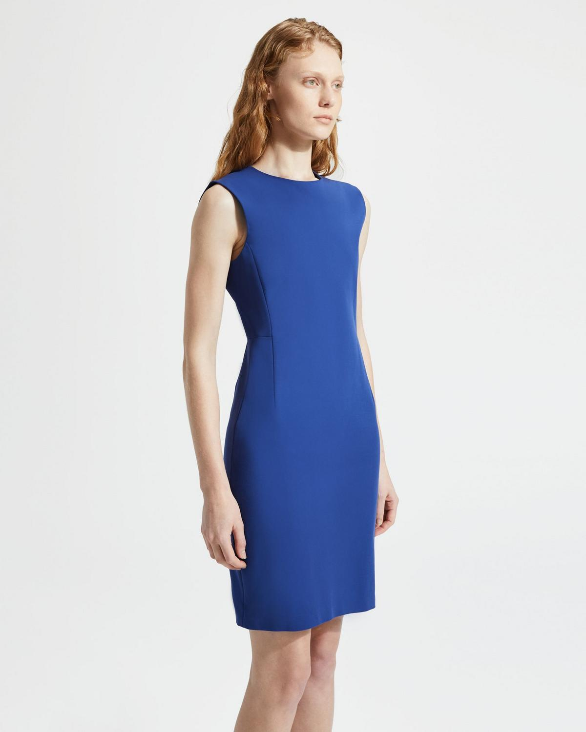 7368a5735a Double Stretch Cotton Fitted Dress   Theory